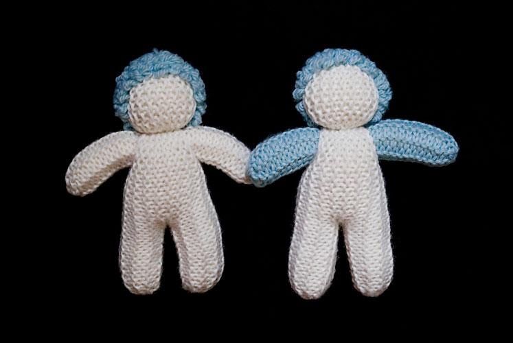 Muñecos patrios, tejido lana natural, 2010.