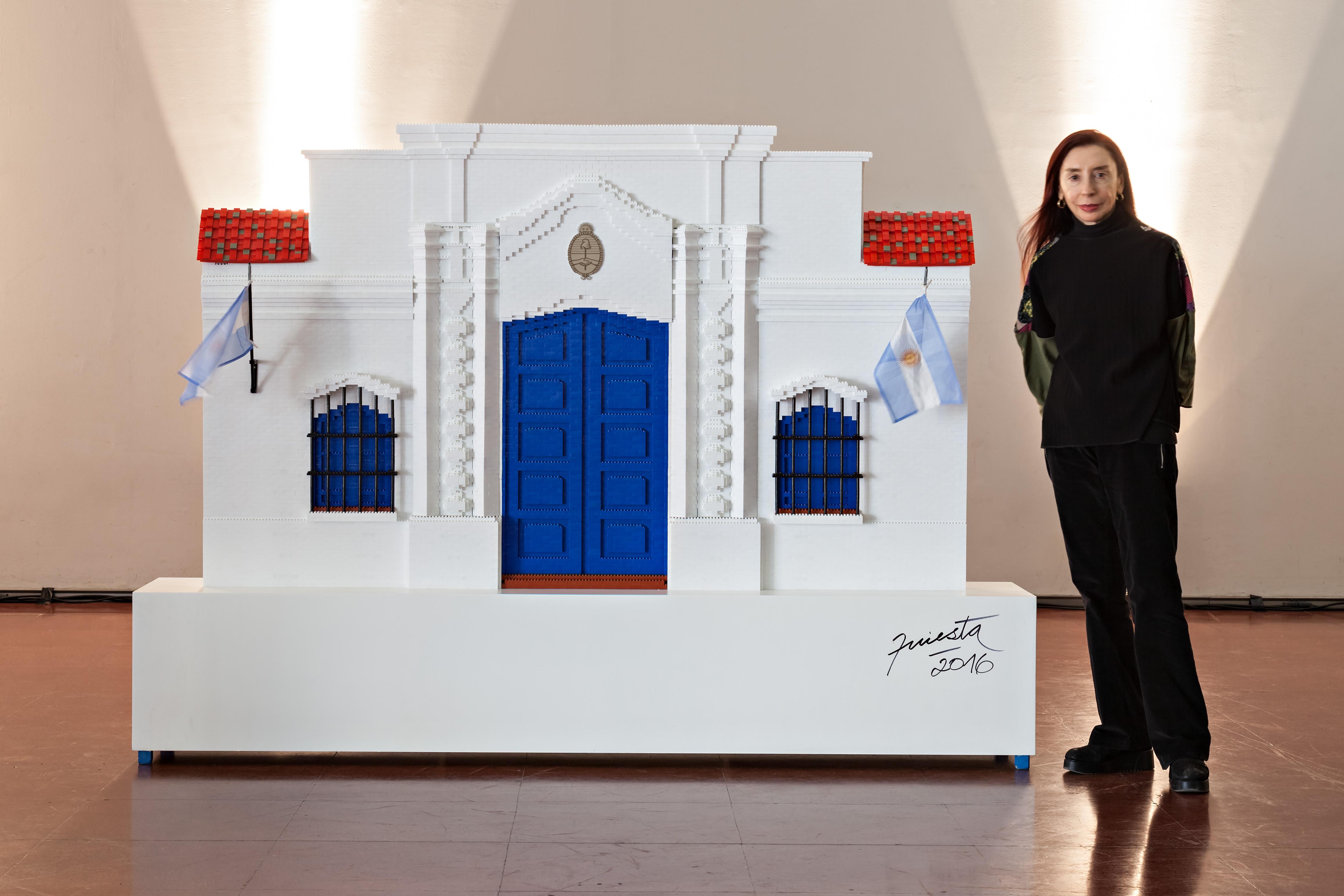 Casa de Tucumán, objetos ensamblados piezas Rasti, 165 cm x 250 cm x 40 cm, 2017