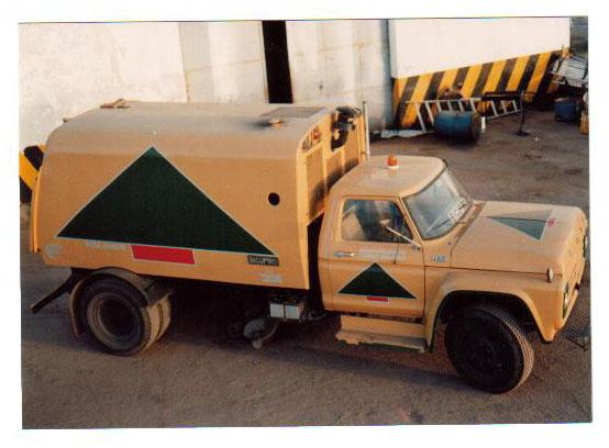 El camión recolector Carlos Casares 1989