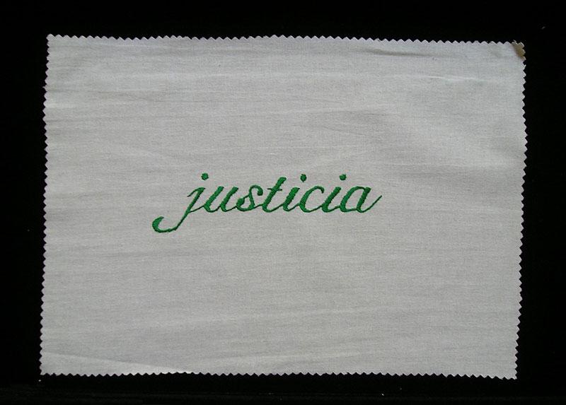 Justicia, serie Las siete virtudes, 2001