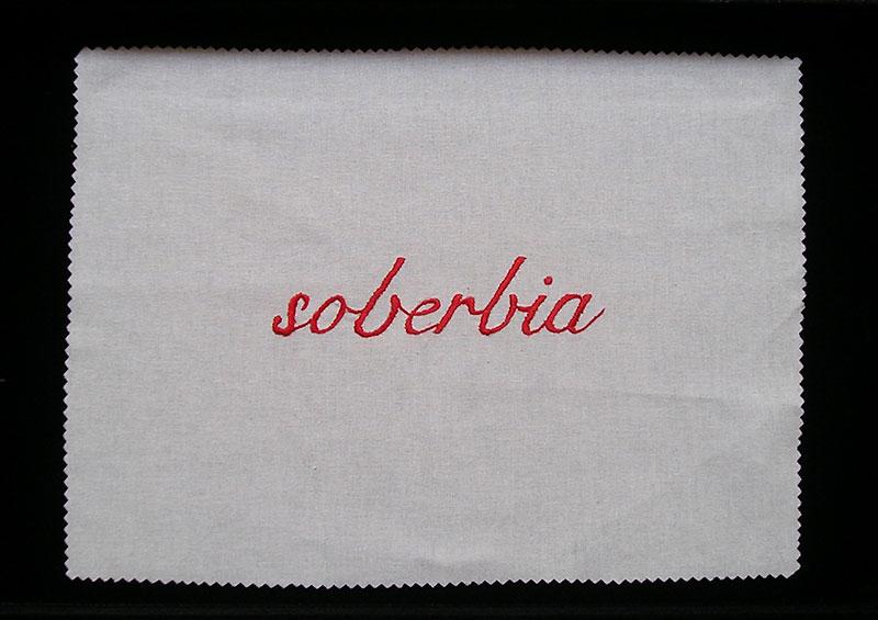Soberbia, serie Los siete pecados capitales, bordado sobre género de algodón, 2001