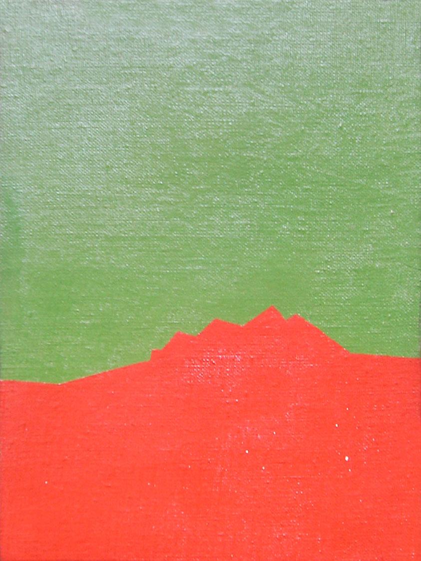 Serie Paisajes sin tiempo, acrílico sobre tela,18 cm x 24 cm,1974