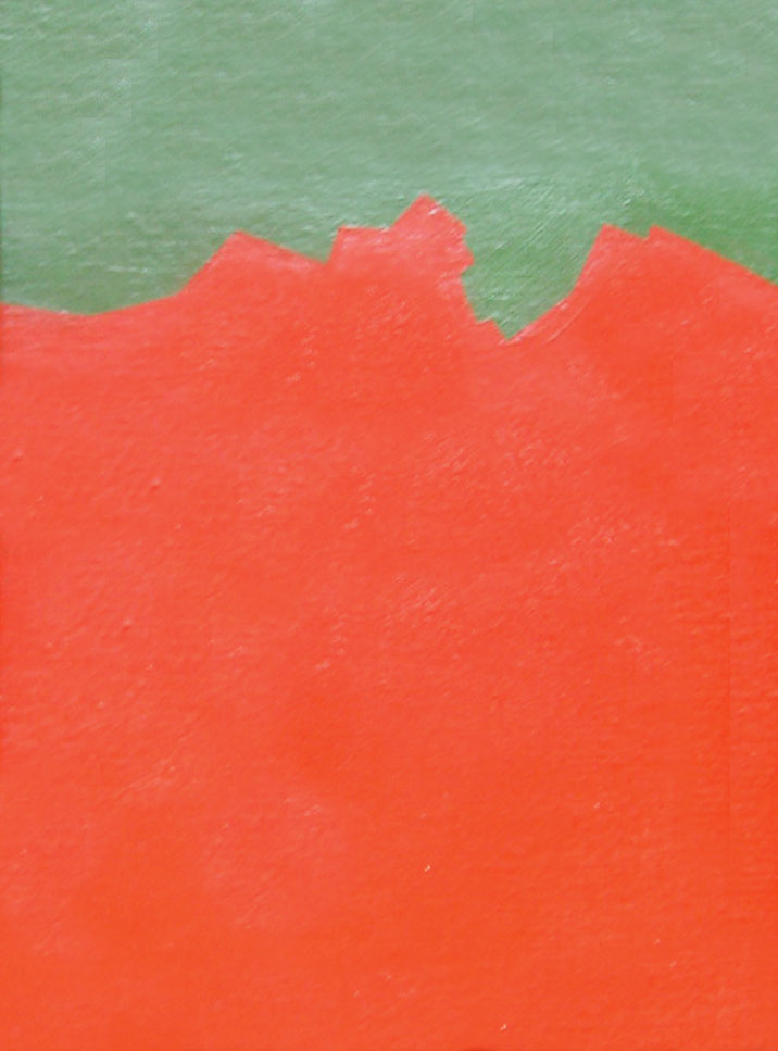 Serie Paisajes sin tiempo , acrílico sobre tela,18 cm x 24 cm,1974