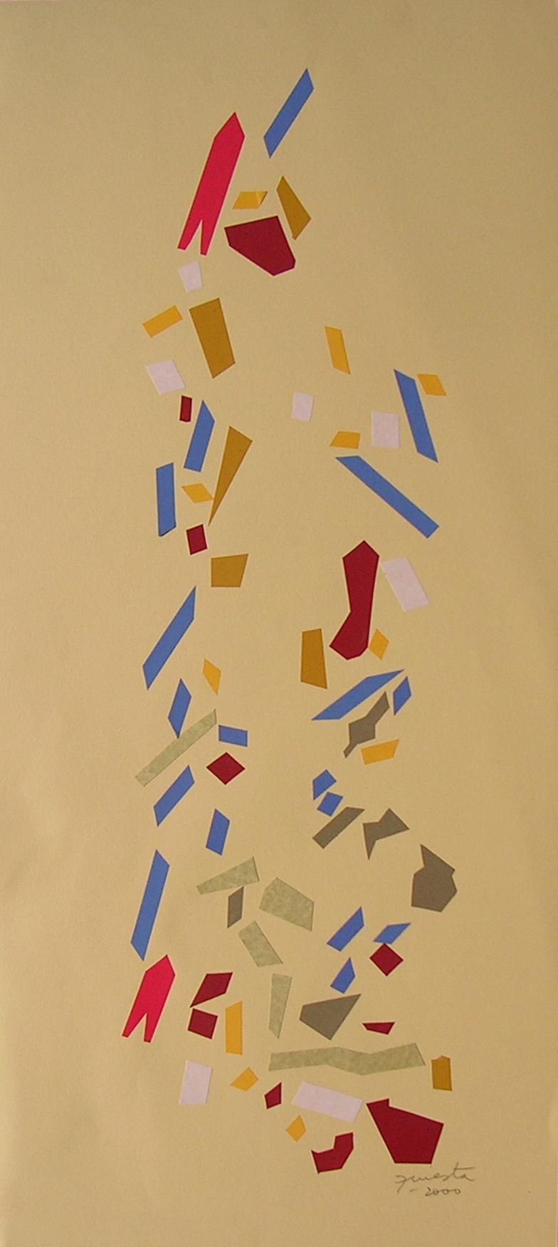 Alegoría VI, papel collage 80 cm x 35 cm, 2000
