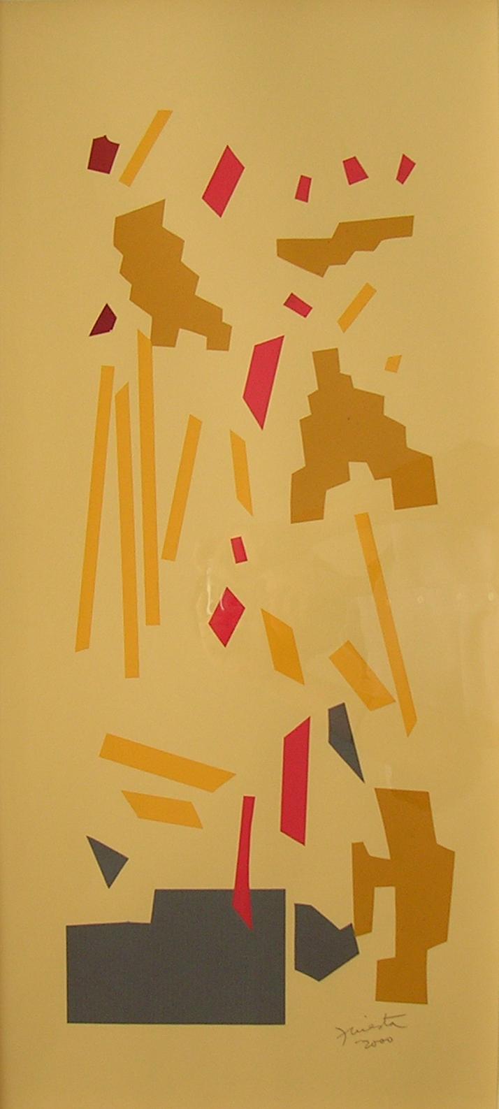 Alegoría VIII, papel collage 80 cm x 35 cm, 2000