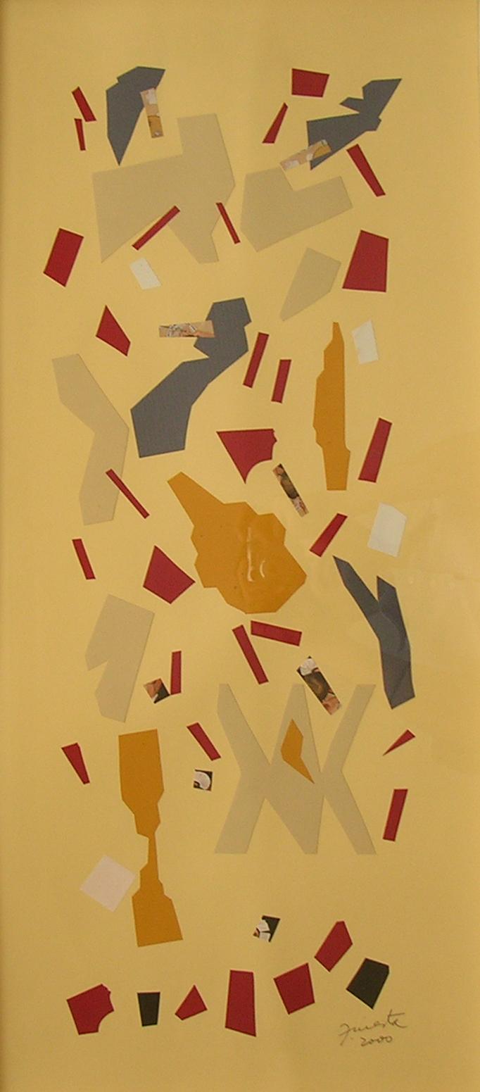 Alegoría VII, papel collage 80 cm x 35 cm, 2000