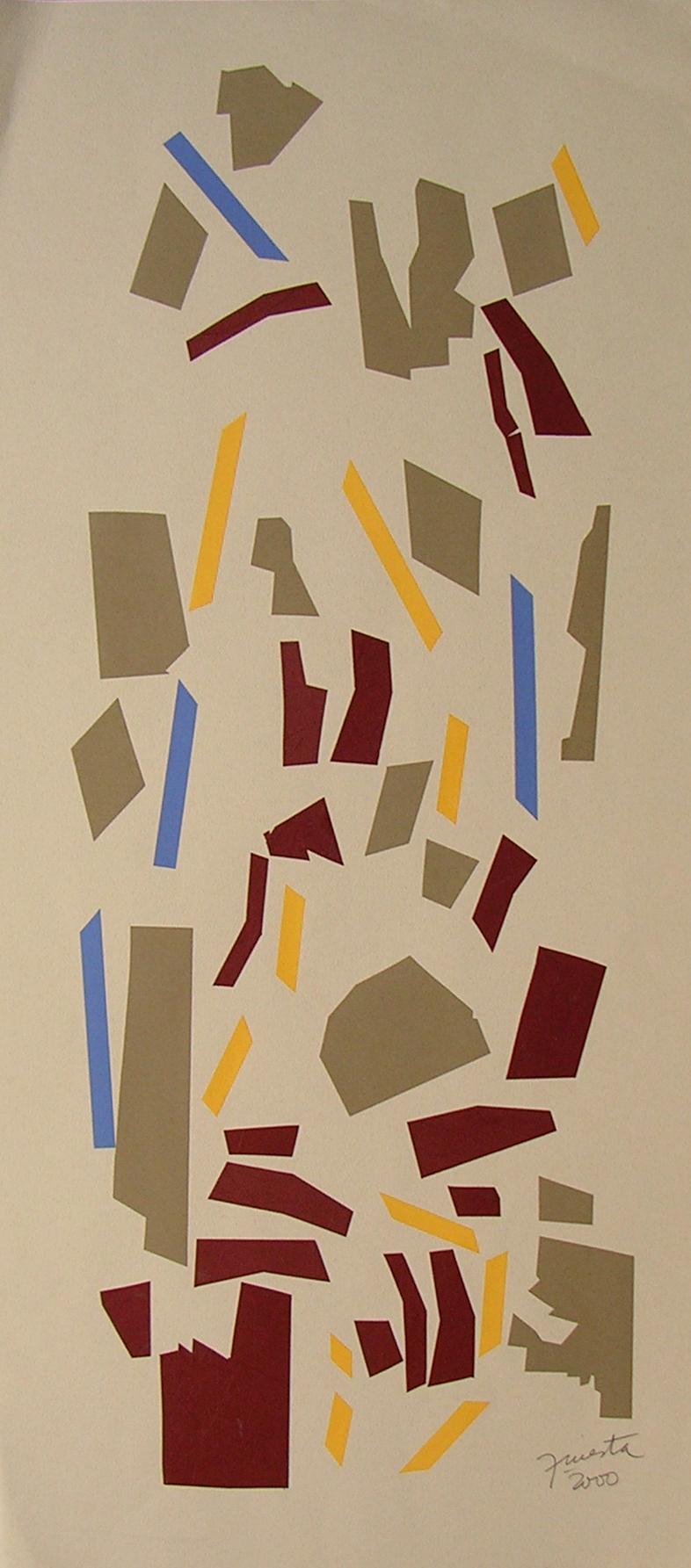 Alegoría III, papel collage 80 cm x 35 cm, 2000