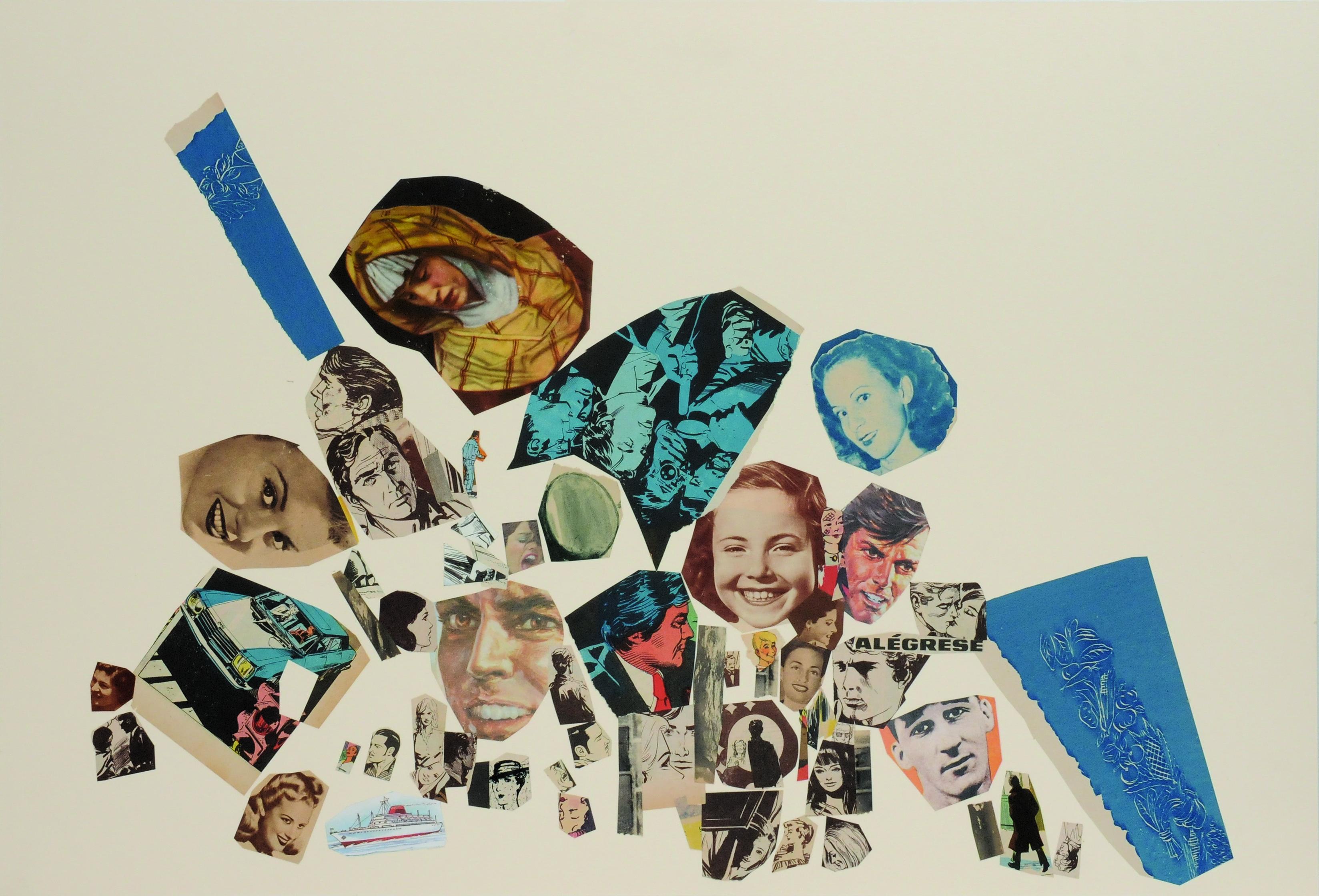 Alégrese, papel collage, 51 cm x 76 cm. 2008