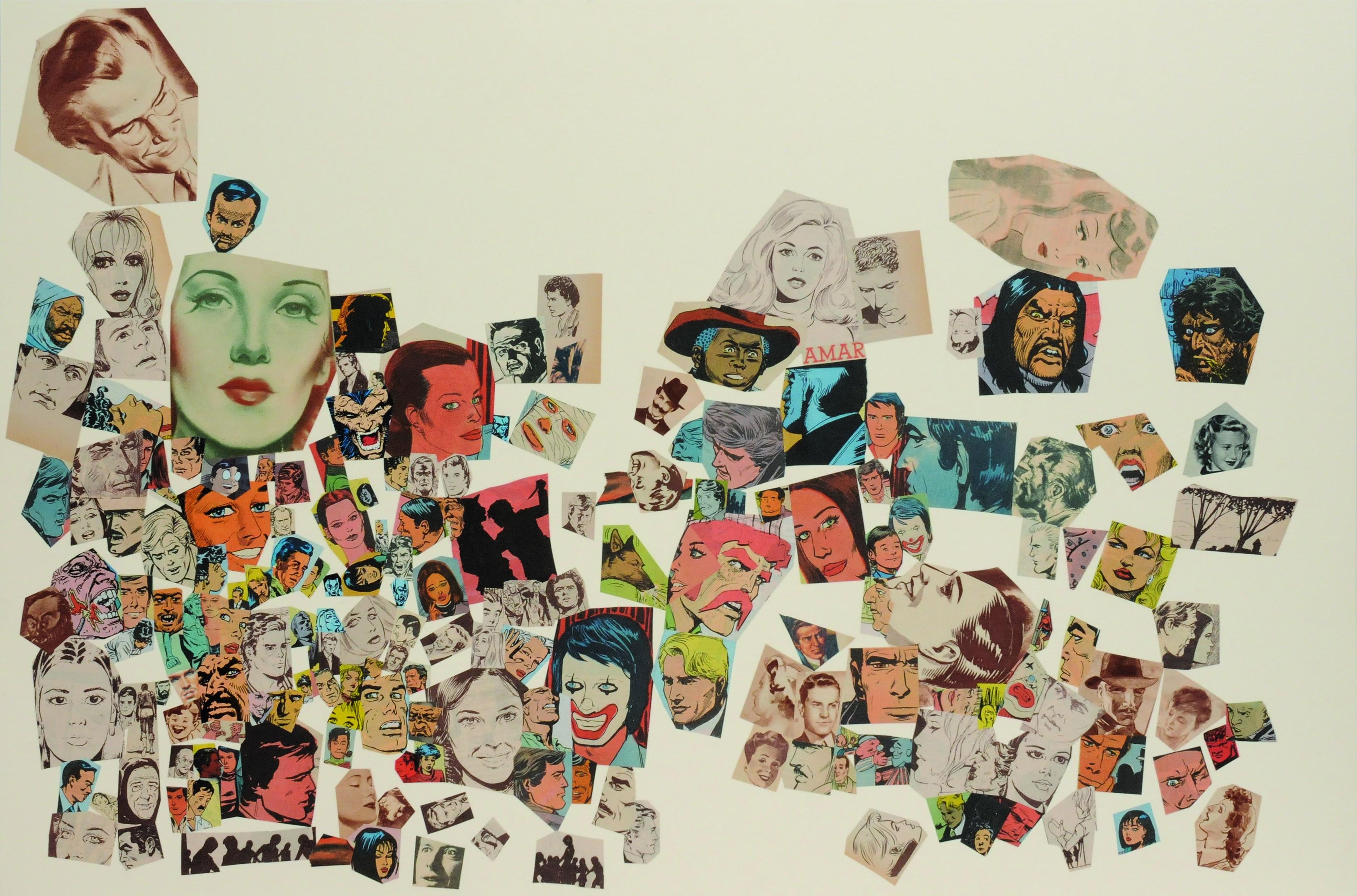 Amar, papel collage, 51 cm  x 76 cm. 2008