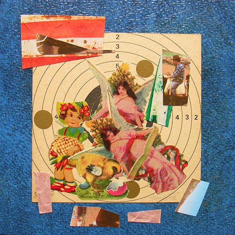 Cotidianeidad, papel collage 20 cm x 20 cm 1989-2006 (1)