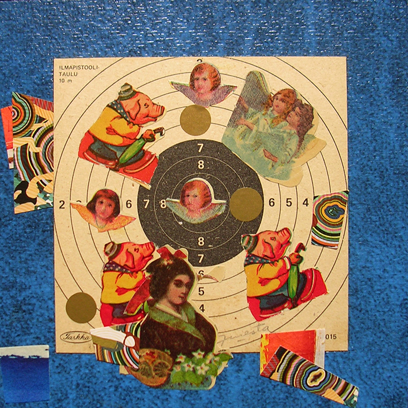 Cotidianeidad, papel collage 20 cm x 20 cm 1989-2006 (12)