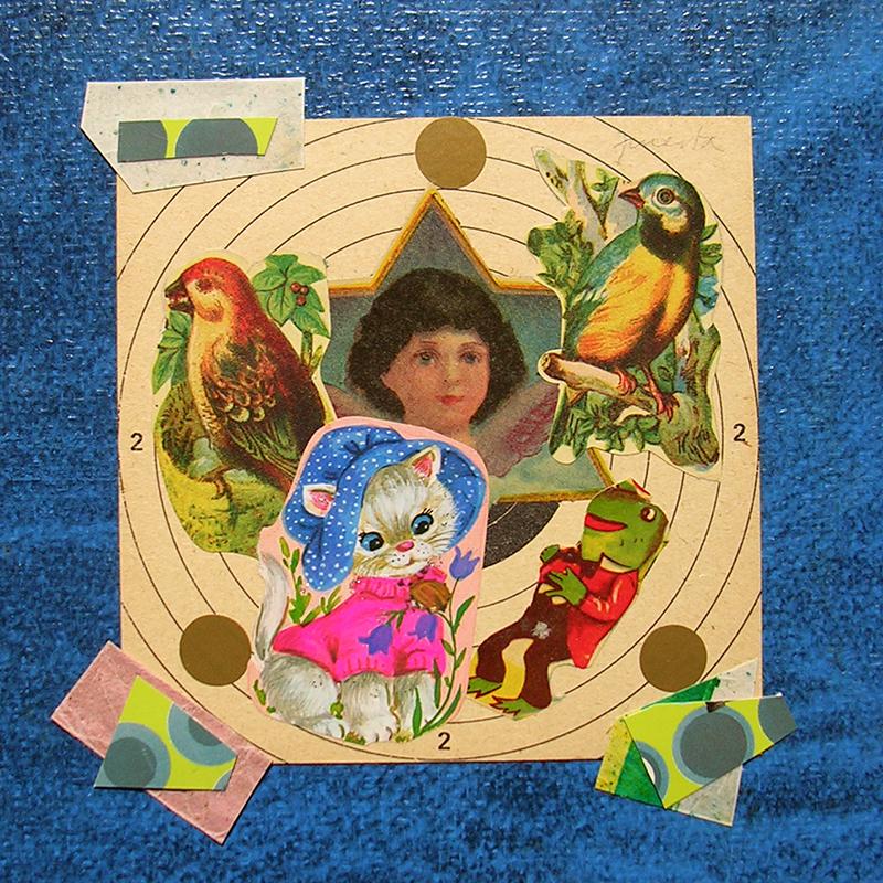 Cotidianeidad, papel collage 20 cm x 20 cm 1989-2006 (14)