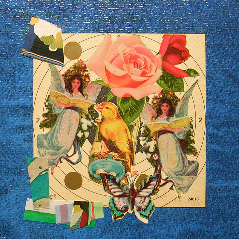 Cotidianeidad, papel collage 20 cm x 20 cm 1989-2006 (16)