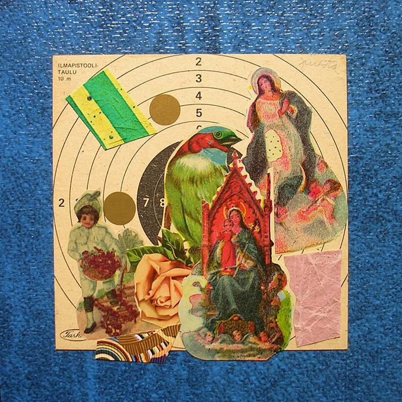 Cotidianeidad, papel collage 20 cm x 20 cm 1989-2006 (19)