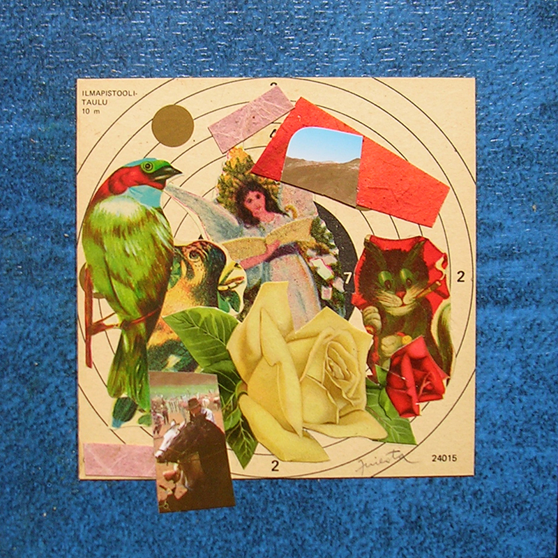 Cotidianeidad, papel collage 20 cm x 20 cm 1989-2006 (2)