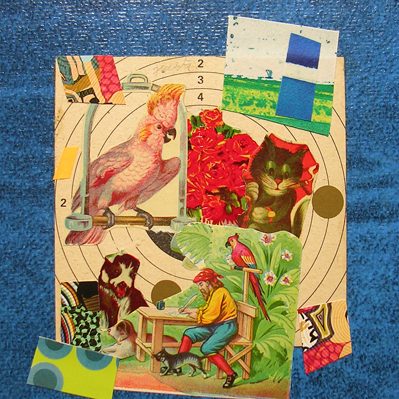 Cotidianeidad, papel collage 20 cm x 20 cm 1989-2006 (23)