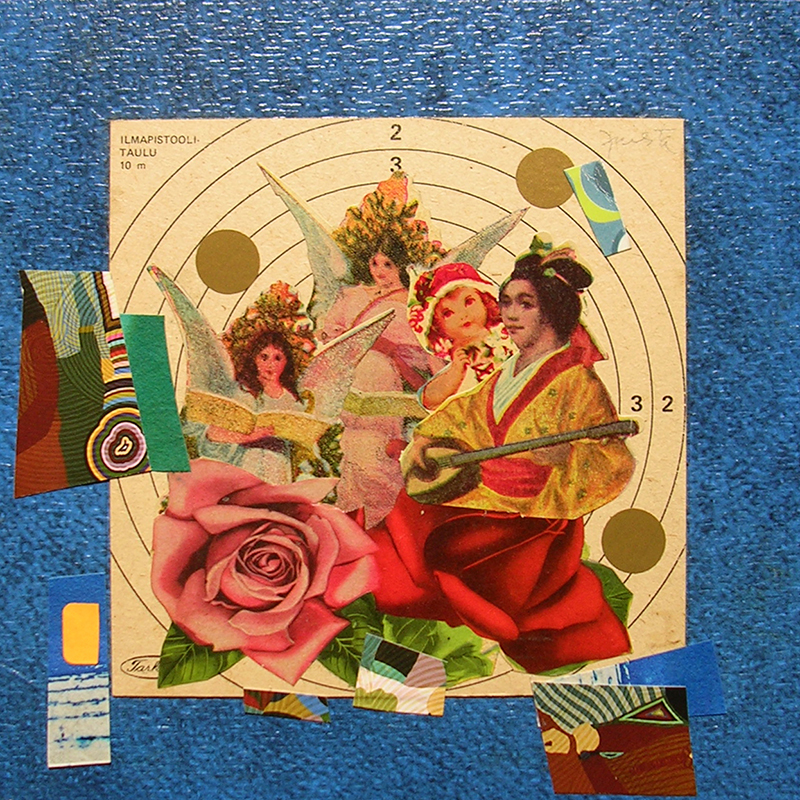 Cotidianeidad, papel collage 20 cm x 20 cm 1989-2006 (28)