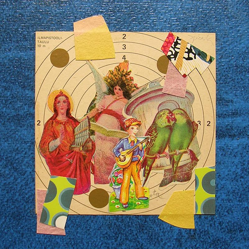 Cotidianeidad, papel collage 20 cm x 20 cm 1989-2006 (29)