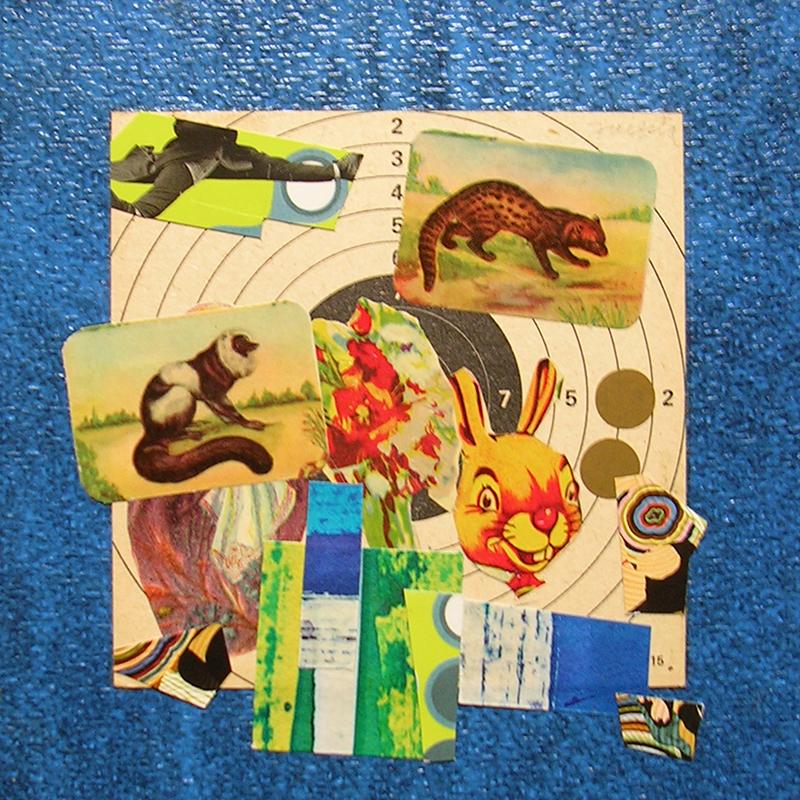 Cotidianeidad, papel collage 20 cm x 20 cm 1989-2006 (3)