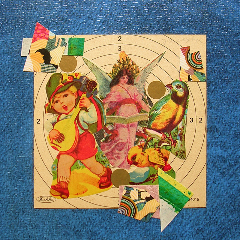 Cotidianeidad, papel collage 20 cm x 20 cm 1989-2006 (30)