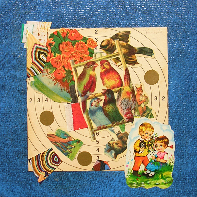 Cotidianeidad, papel collage 20 cm x 20 cm 1989-2006 (4)