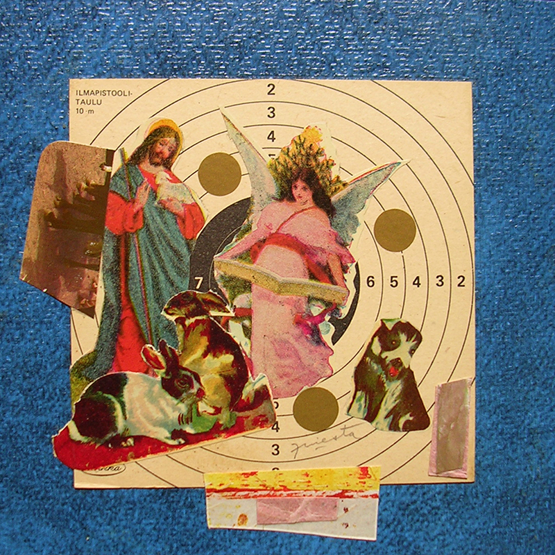 Cotidianeidad, papel collage 20 cm x 20 cm 1989-2006 (5)