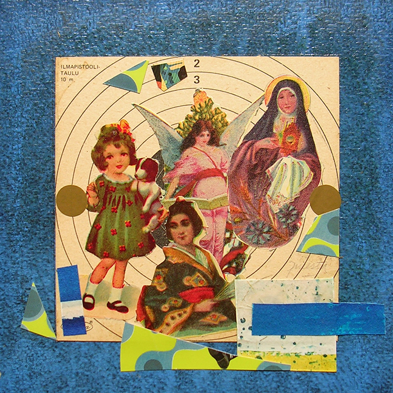 Cotidianeidad, papel collage 20 cm x 20 cm 1989-2006 (6)