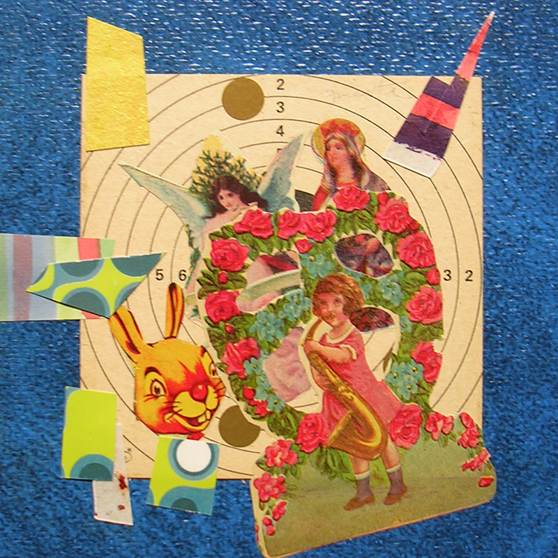 Cotidianeidad, papel collage 20 cm x 20 cm 1989-2006 (7)