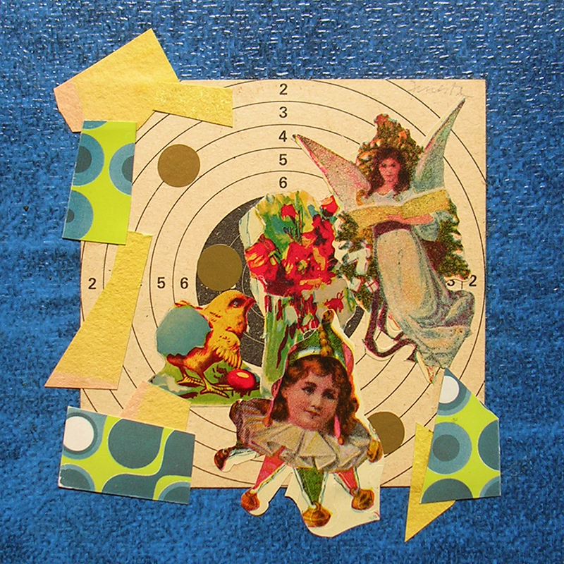 Cotidianeidad, papel collage 20 cm x 20 cm 1989-2006 (9)