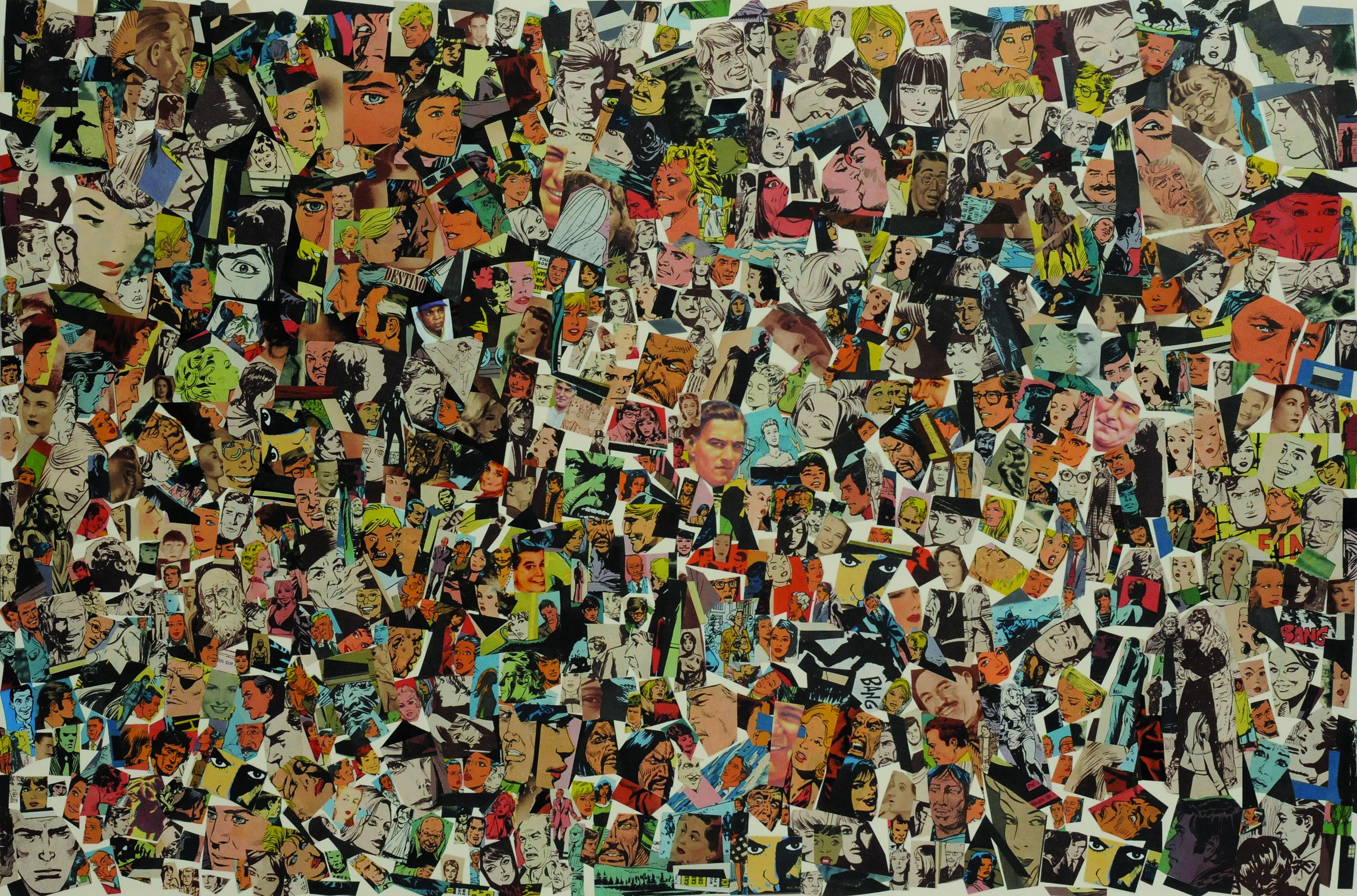 Destino I, papel collage, 51 cm x 76 cm. 2008