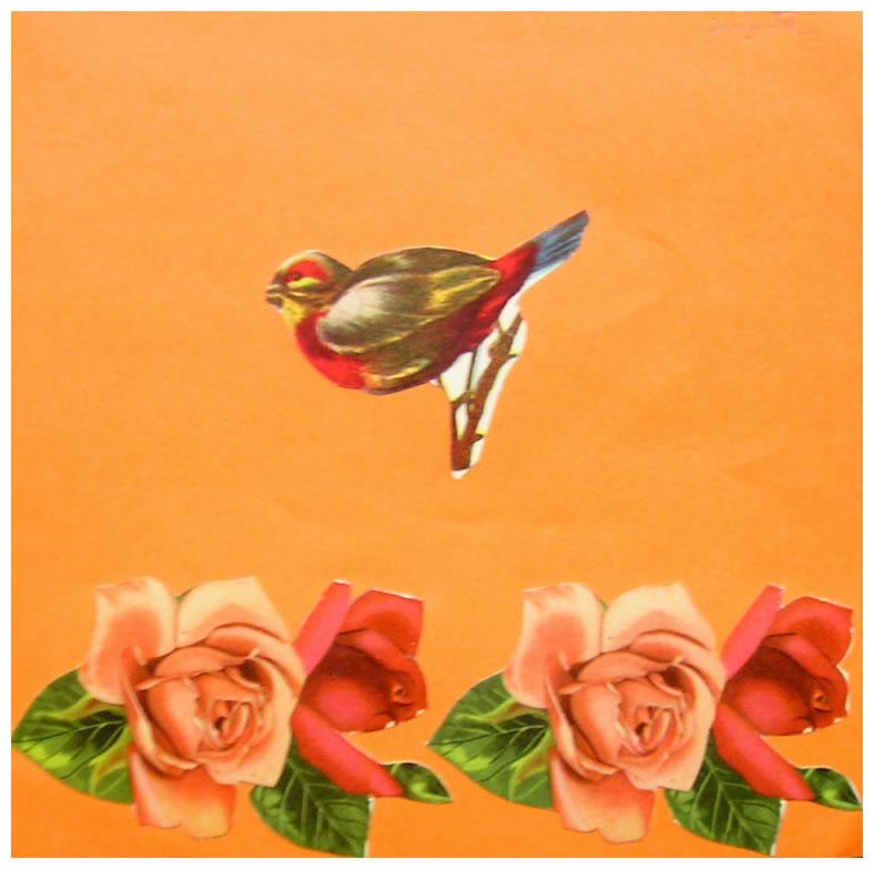Guarda, papel collage, 15 cm x 15 cm, 1999