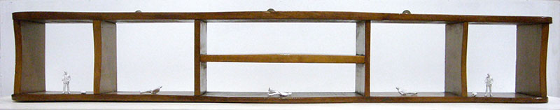 Hábitat, instalación. 14 cm x 86,5 cm x 12 cm,2013