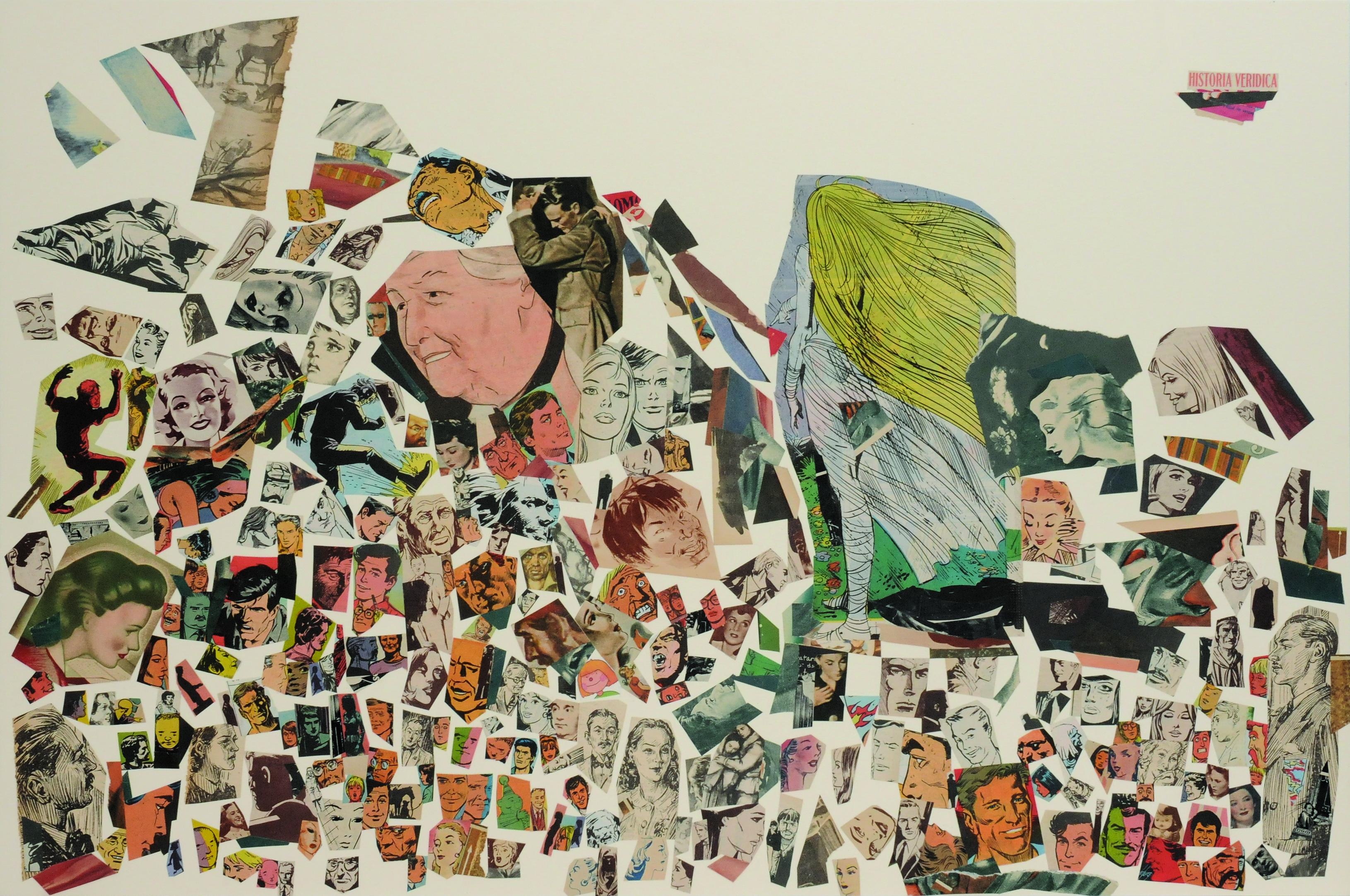 Historia verídica, papel collage, 51 cm x 76 cm. 2008