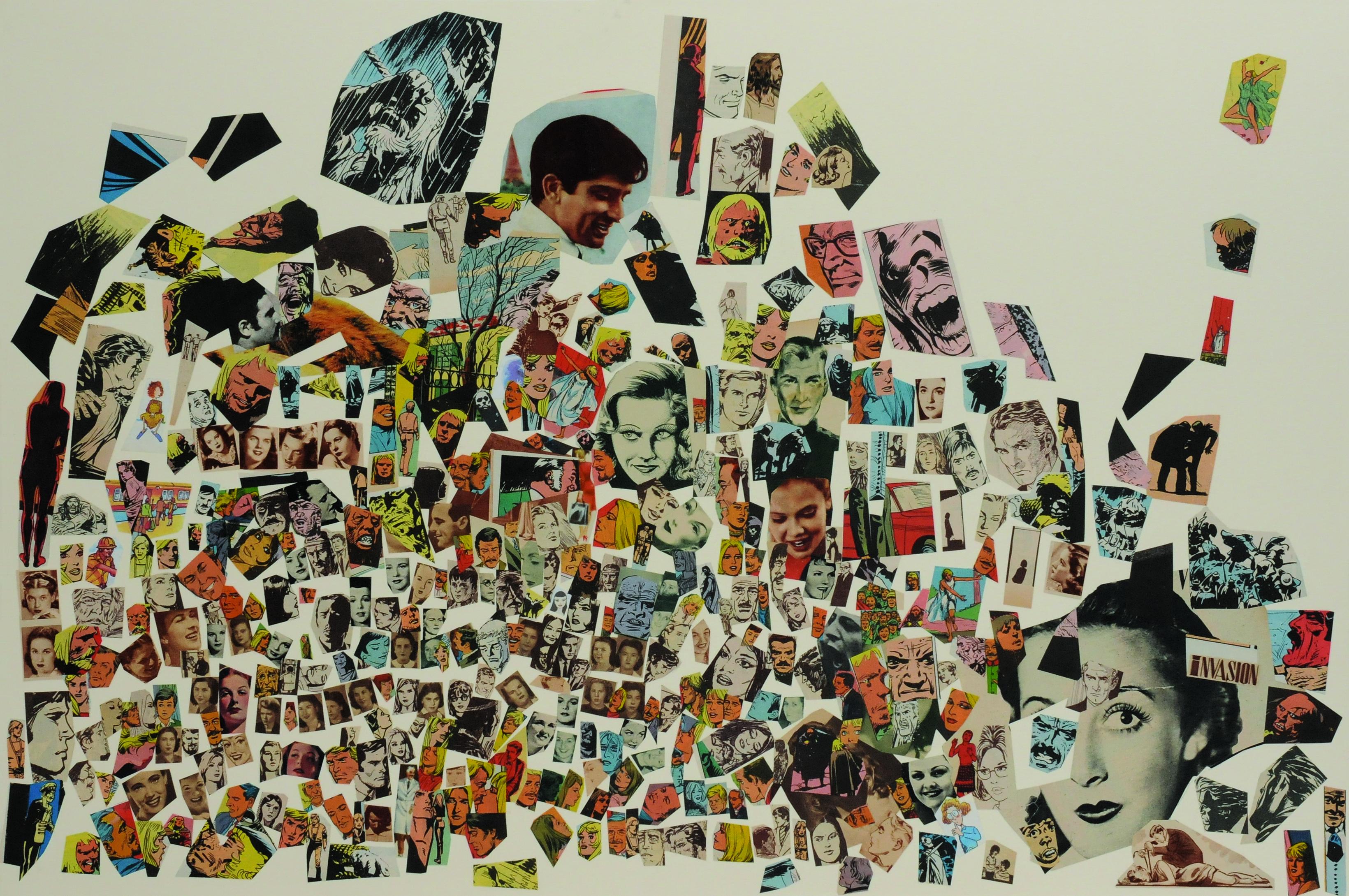 Invasión, papel collage, 51 cm x 76 cm. 2008