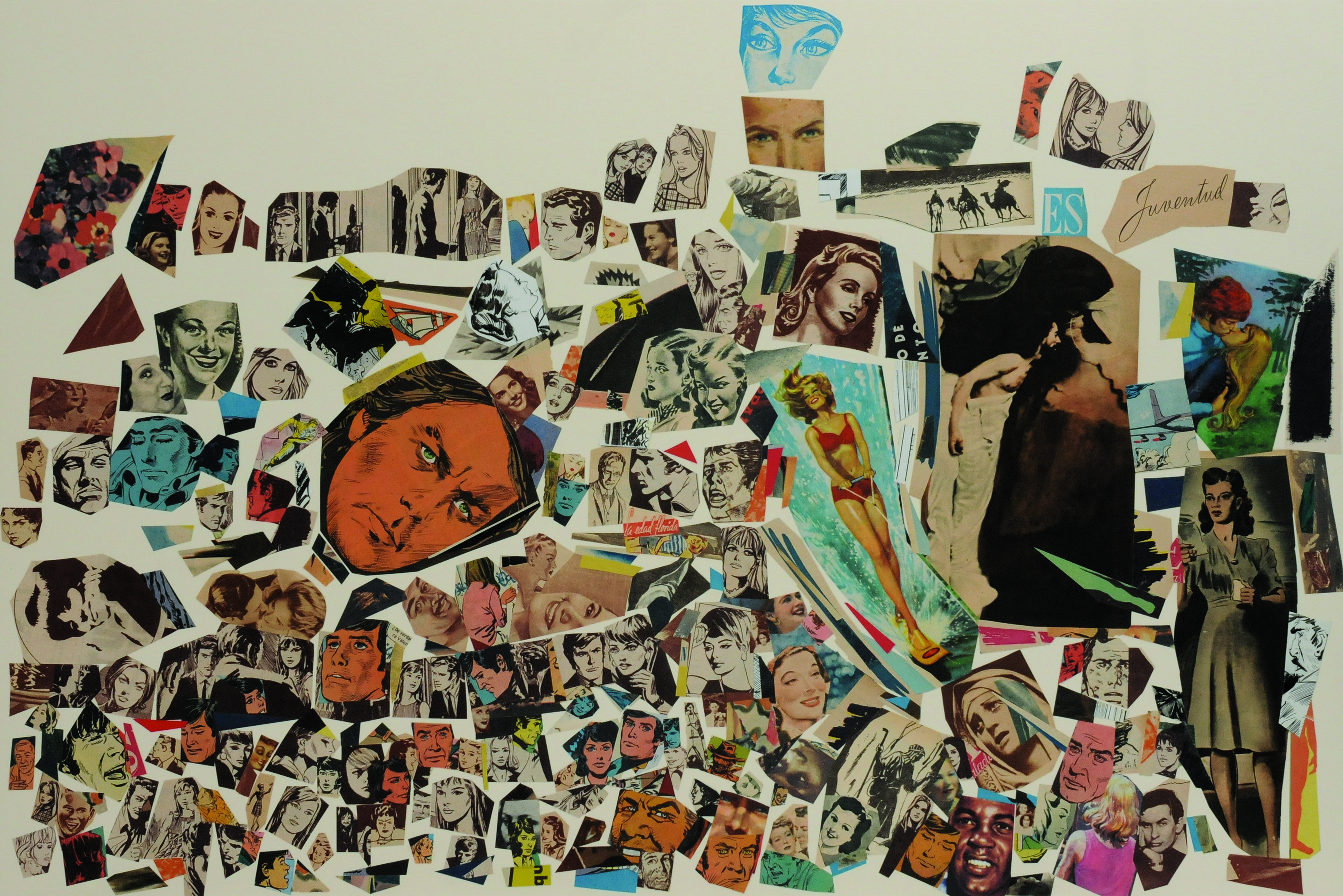 Juventud, papel collage, 51 cm x 76 cm. 2008