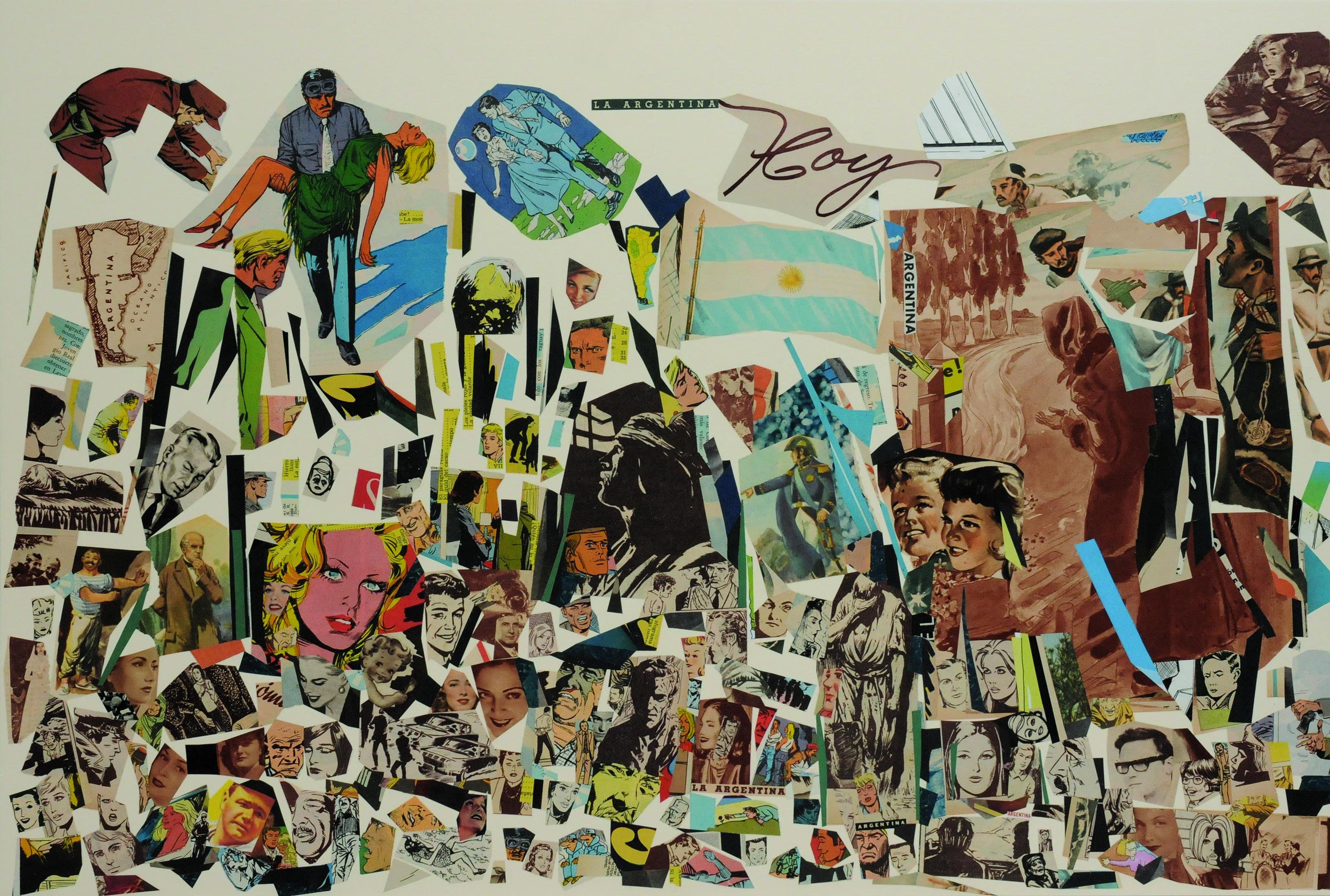 La Argentina hoy, papel collage, 51 cm x 76 cm. 2008