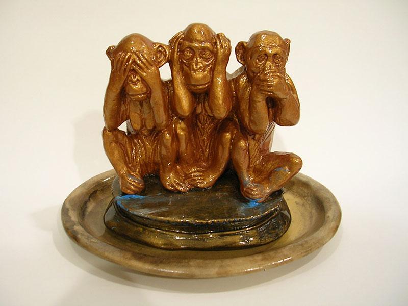 Monos,15 cm x 20 x 14 cm,2005