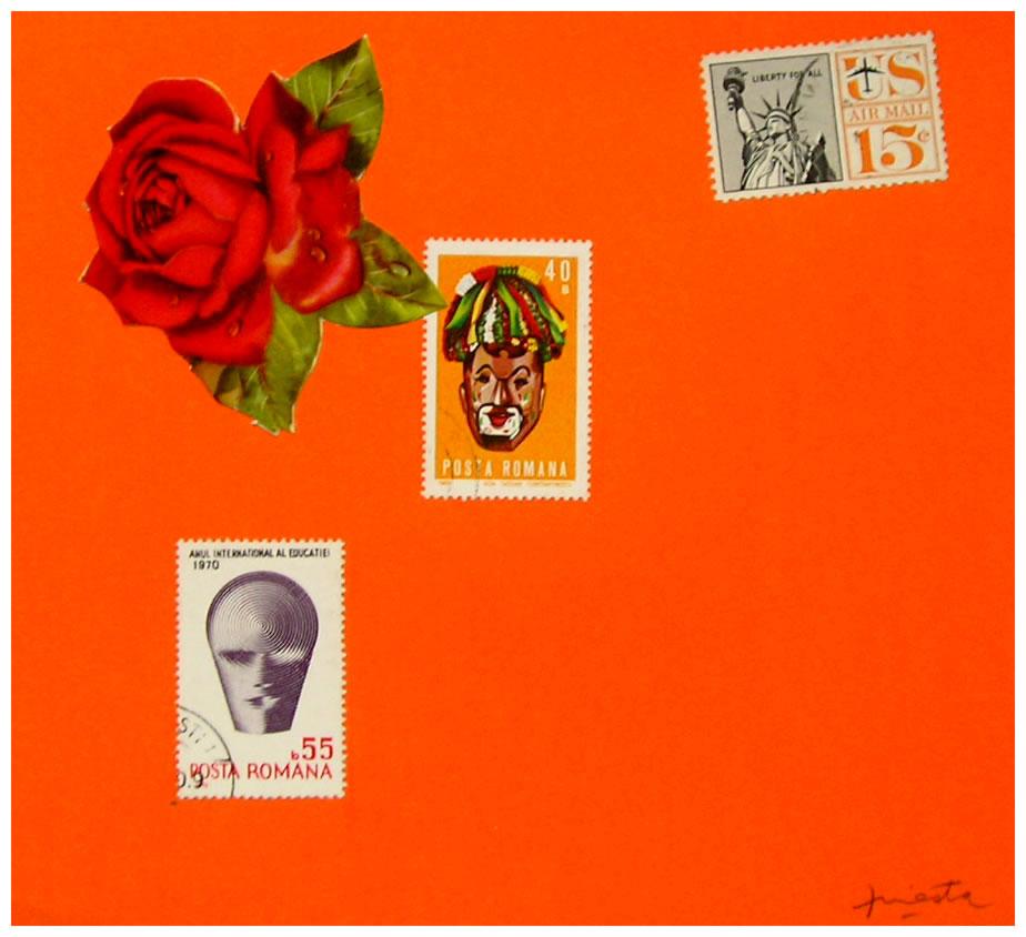 New York,  papel collage, 15 cm x 15 cm, 1999