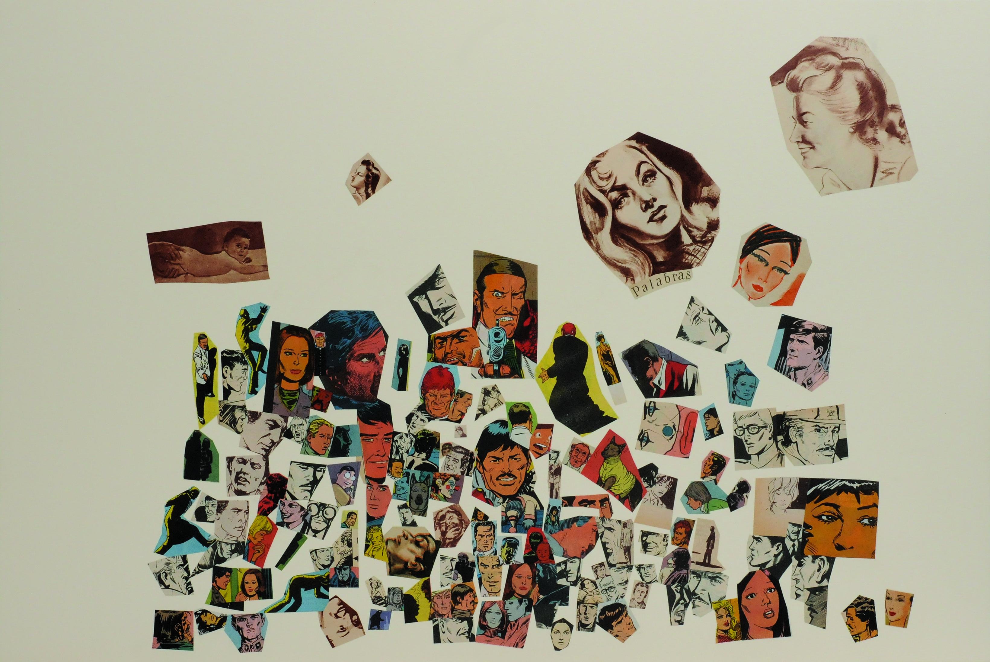 Palabras, papel collage, 51 cm x 76 cm. 2008