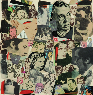 Sin Título, papel collage, 13,5 cm x 13 cm. 2008