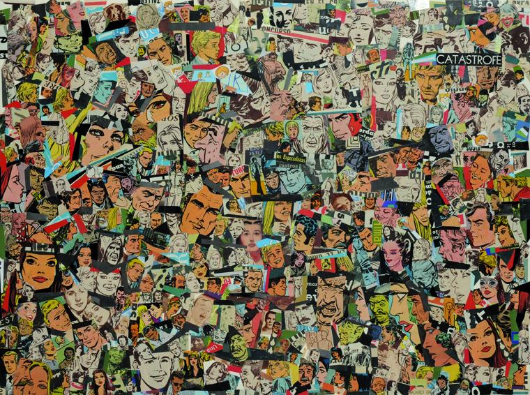 Sin Título, papel collage, 37 cm x 50 cm. 2008