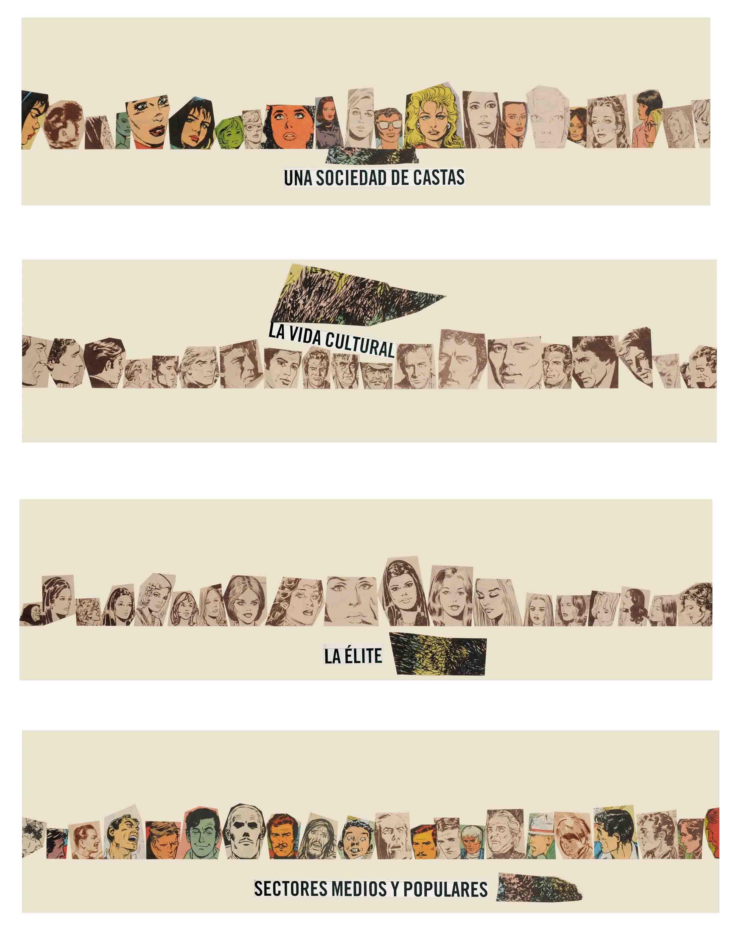 Sin Título, papel collage, 60 cm x 50 cm 2008