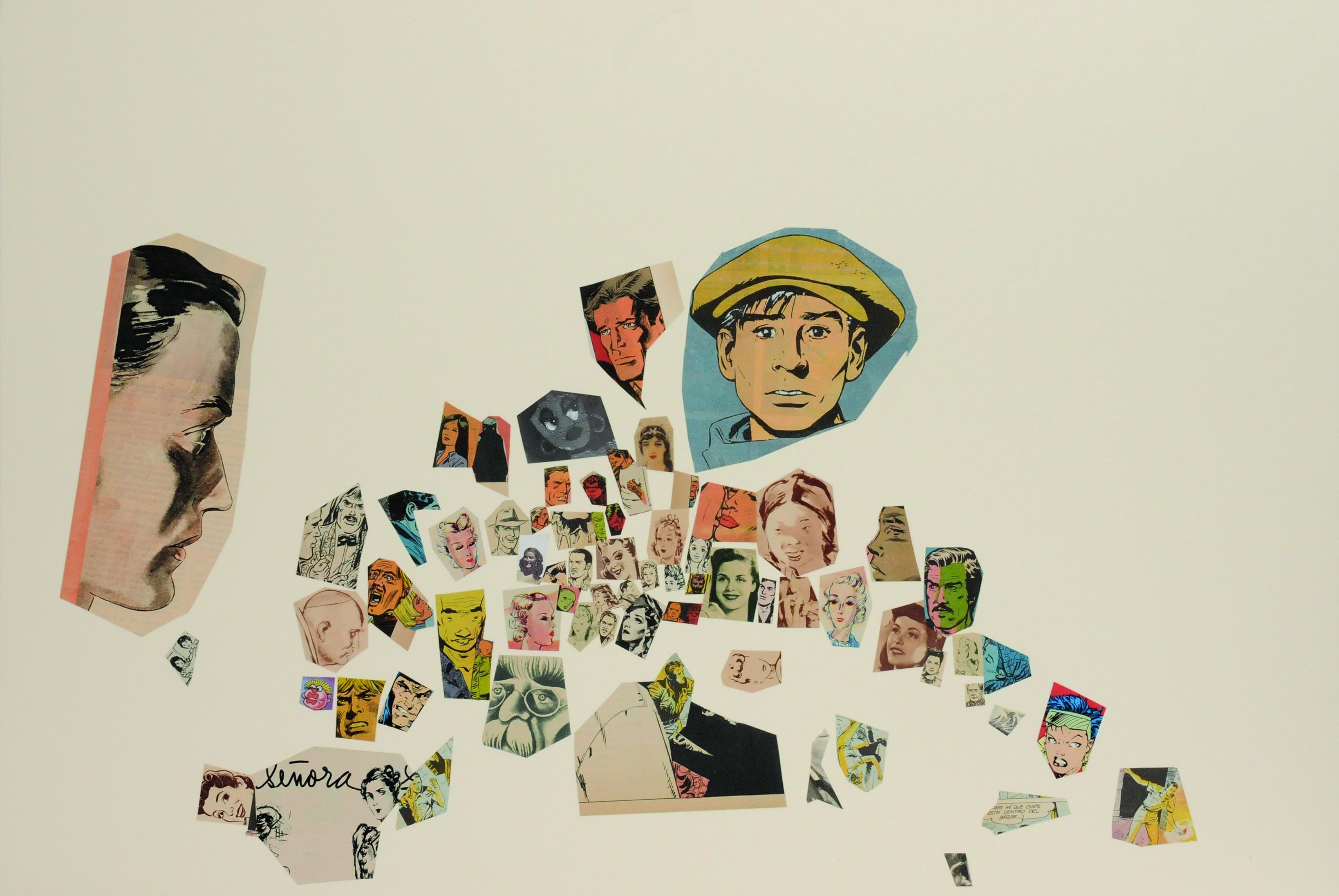 Señora, papel collage, 51 cm x 76 cm. 2008