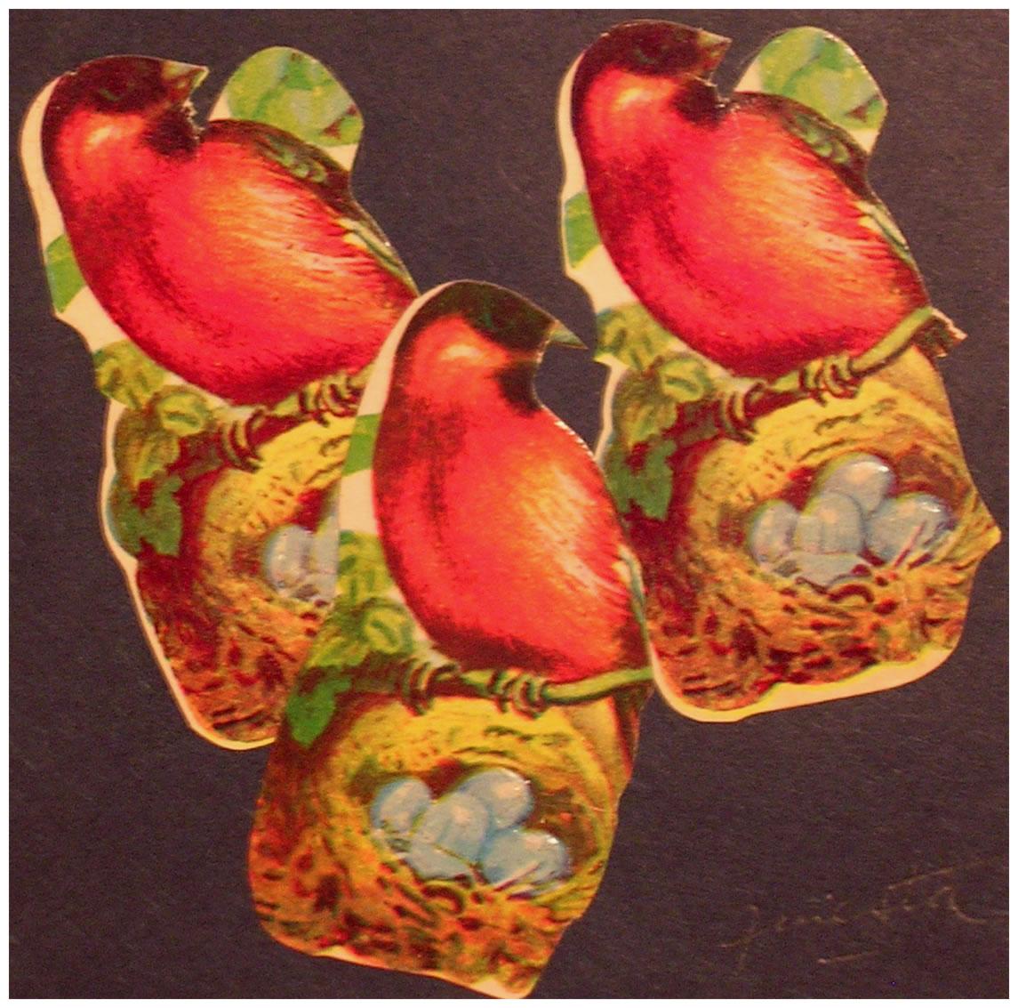 Tres,  papel collage, 15 cm x 15 cm, 1999