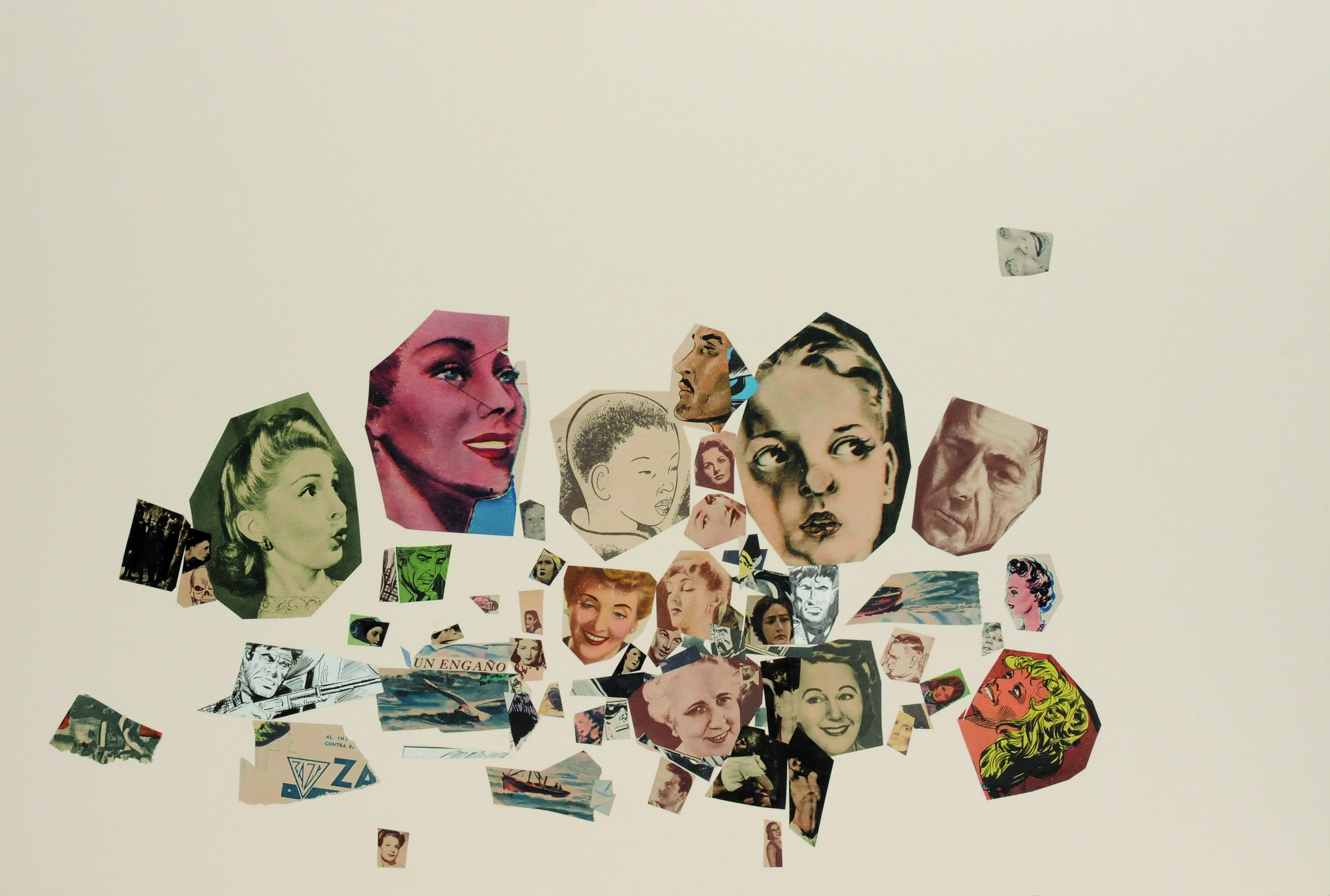 Un engaño, papel collage, 51 cm x 76 cm. 2008