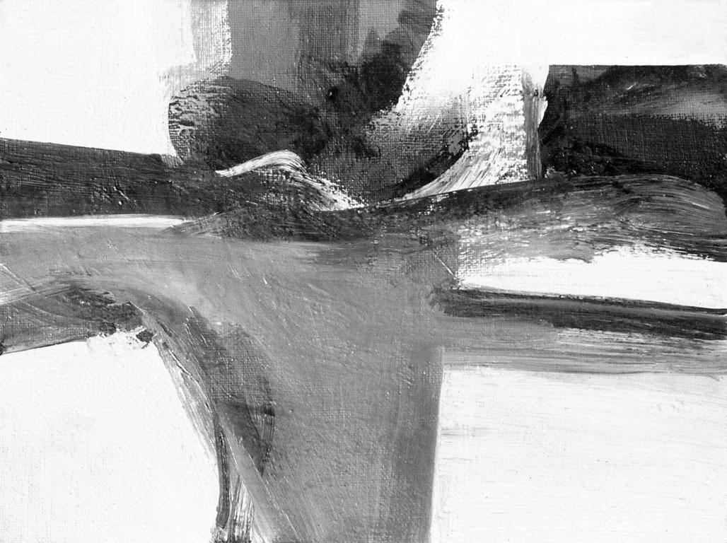 Serie Negra,  acrílico sobre hardboard, 24 cm x 30 cm, 1971-1972