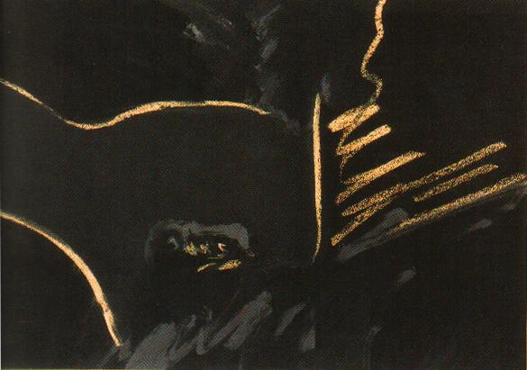 El Mentiroso, tempera y pastel 48 cm x 68,5cm, 1973