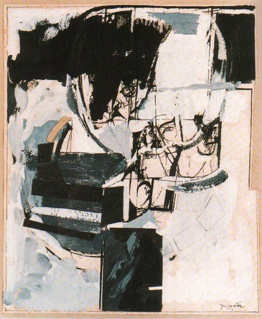 El Miedo, técnica mixta, 19 cm x 24 cm 1970
