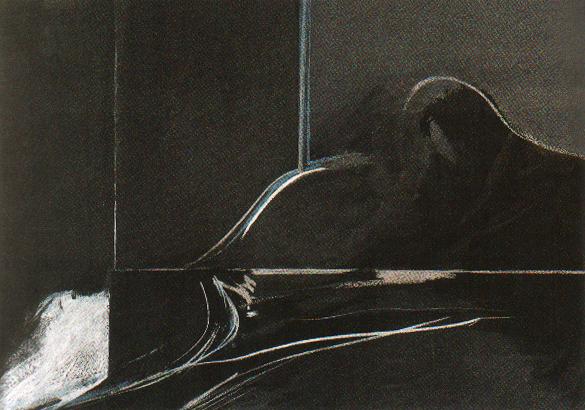 La Fuga, témpera y pastel, 48 cm x 68,5cm, 1973