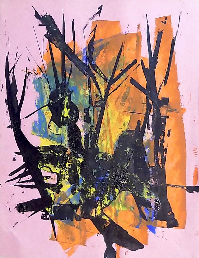 Estudio sobre los árboles ,dibujo, sobre papel, 27 cm x 20 cm , 1967